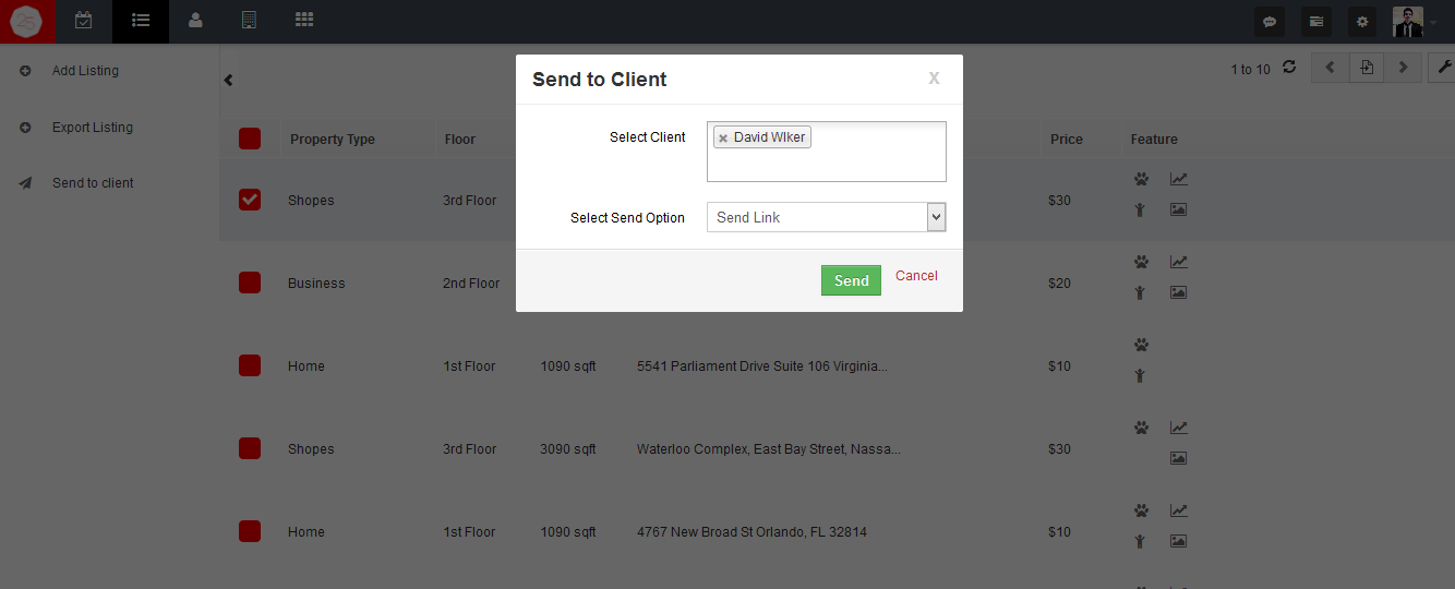 property-listing-send-to-client-link