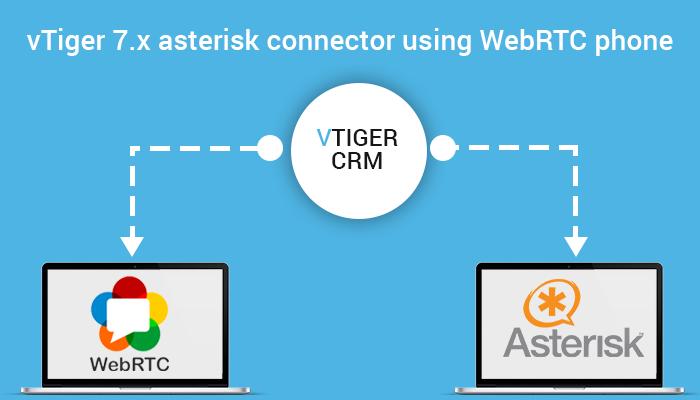 vTiger 7 x asterisk connector using WebRTC phone