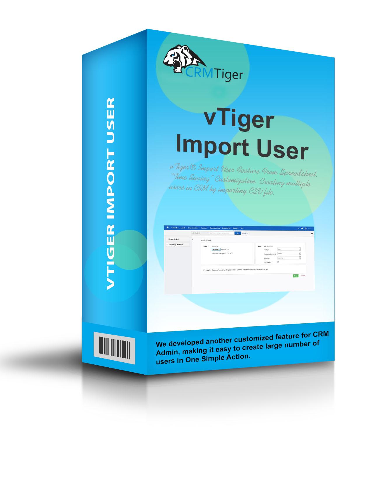 vTiger® Import User