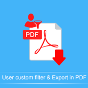 User-custom-filter-and-Export-in-PDF