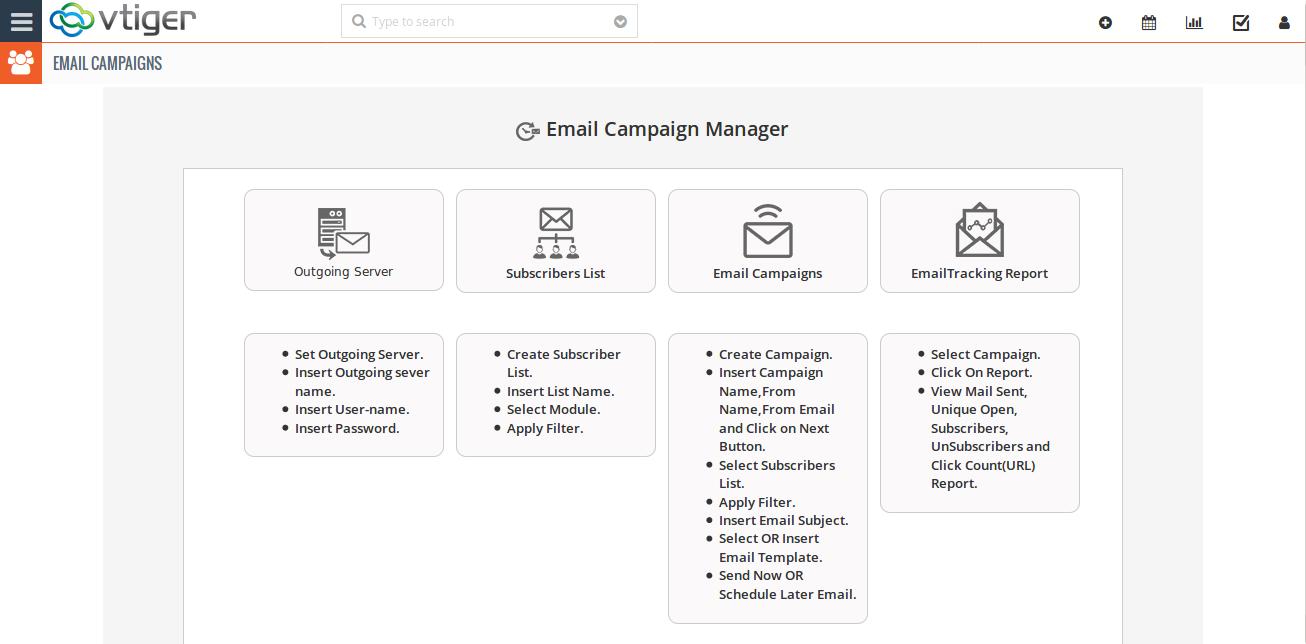 Vtiger Email Marketing Email Campaign In Vtiger Vtiger Email