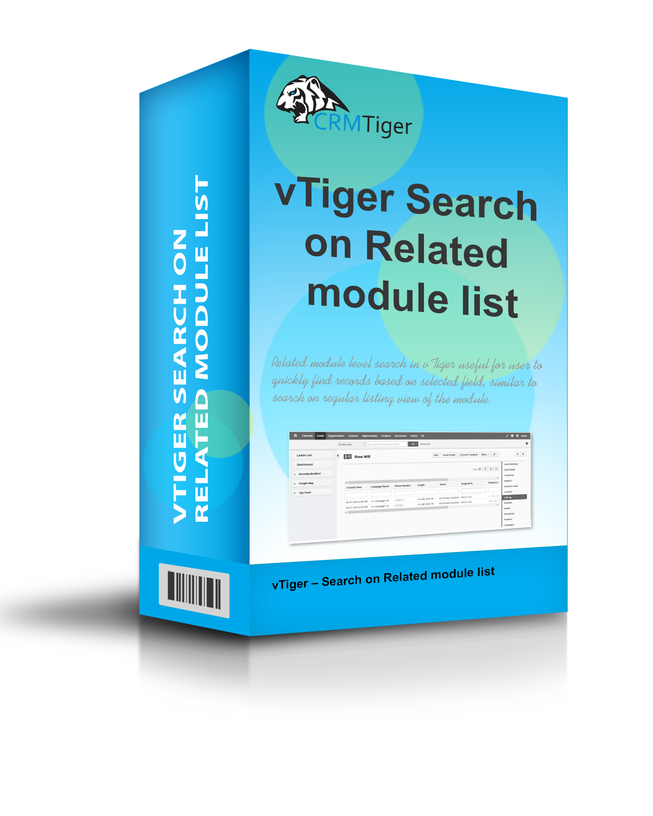 vTiger Search on Related module list